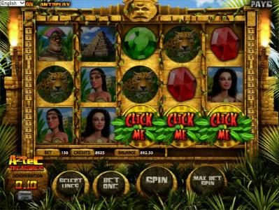 Play slots at Slots Village: Slots Village featuring the Video Slots Aztec Treasures 3D with a maximum payout of $7,500