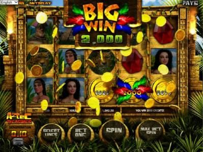 Vegas Days featuring the Video Slots Aztec Treasures 3D with a maximum payout of $7,500