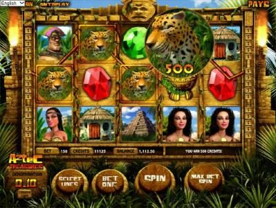 Casino Moons featuring the Video Slots Aztec Treasures 3D with a maximum payout of $7,500