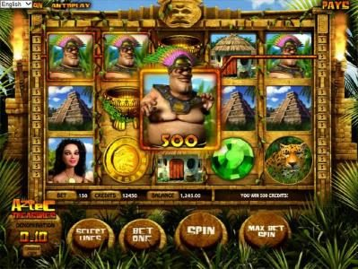 Play slots at Casino Room: Casino Room featuring the Video Slots Aztec Treasures 3D with a maximum payout of $7,500