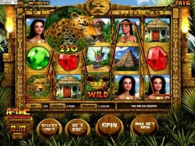 Llama Casino featuring the Video Slots Aztec Treasures 3D with a maximum payout of $7,500