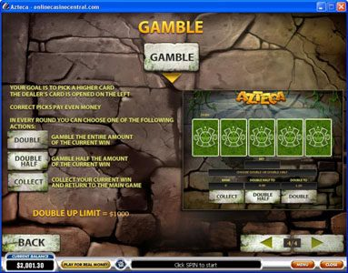 Tropez featuring the Video Slots Azteca with a maximum payout of $50,000