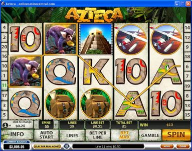 Grand Reef featuring the Video Slots Azteca with a maximum payout of $50,000