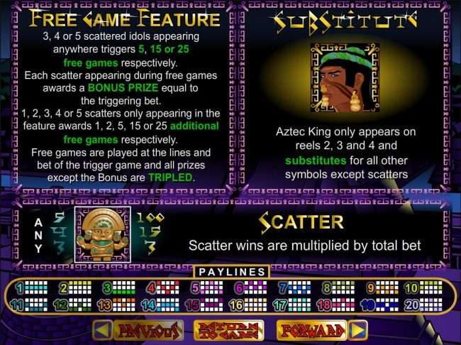 Play slots at Intertops: Intertops featuring the video-Slots Aztec's Treasure with a maximum payout of $250,000