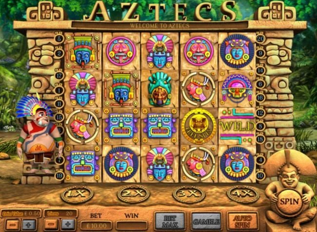 My Touch featuring the Video Slots Aztecs with a maximum payout of 200.00