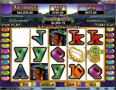 Slotnuts featuring the video-Slots Aztec's Treasure with a maximum payout of $250,000