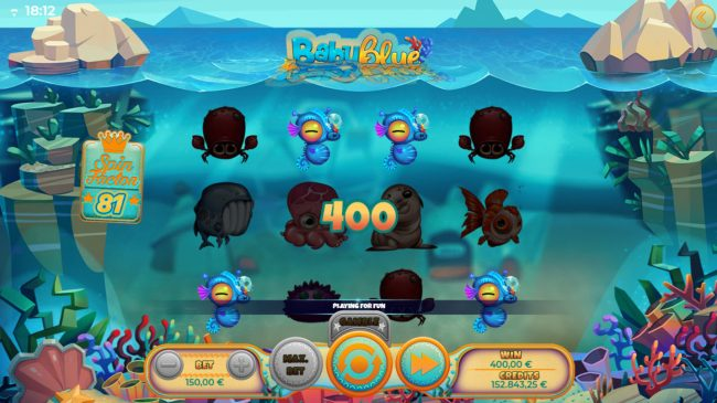 Melbet featuring the Video Slots Baby Blue with a maximum payout of $50,000