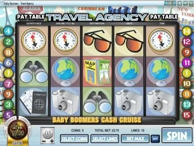 Supernova featuring the Video Slots Baby Boomers Cash Cruise with a maximum payout of $25,000