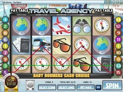 CoCoa featuring the Video Slots Baby Boomers Cash Cruise with a maximum payout of $25,000
