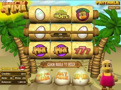 BetOnline featuring the Video Slots Back in Time with a maximum payout of $250