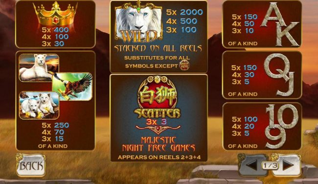 Chips Palace featuring the Video Slots Bai Shi with a maximum payout of $100,000