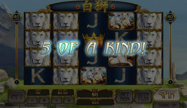 Giant Vegas featuring the Video Slots Bai Shi with a maximum payout of $100,000