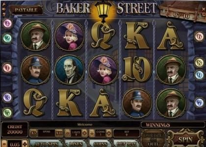 Play slots at Trada: Trada featuring the Video Slots Baker Street with a maximum payout of $1,250