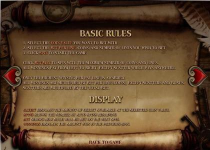 Baker Street :: basic game rules