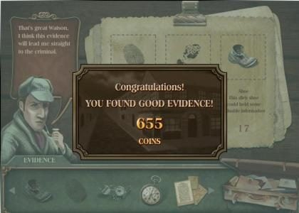 Baker Street :: our evidence selections triggered a 655 coins pay out