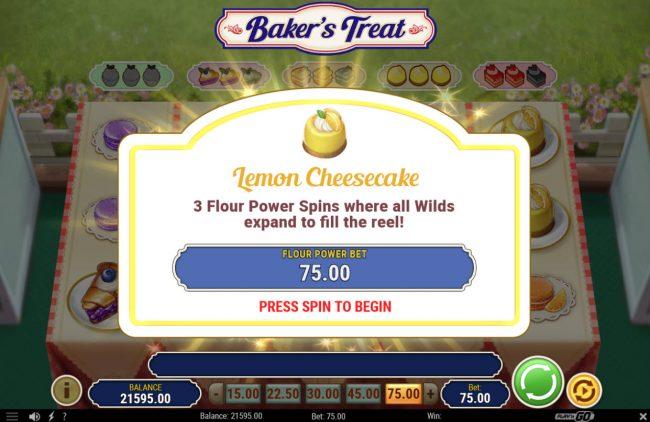 Baker's Treat :: 3 Free Spins Awarded