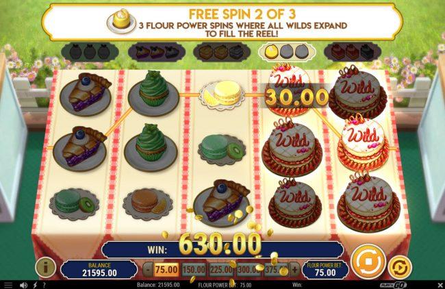 Baker's Treat :: Multiple winning paylines triggers a big win