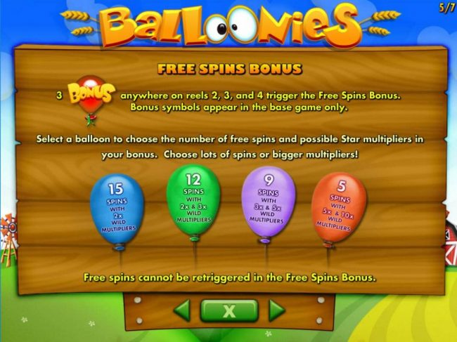 Moon Games featuring the Video Slots Balloonies Farm with a maximum payout of $250,000