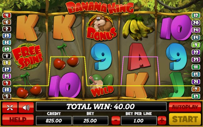 Venetian featuring the Video Slots Banana King with a maximum payout of $50,000