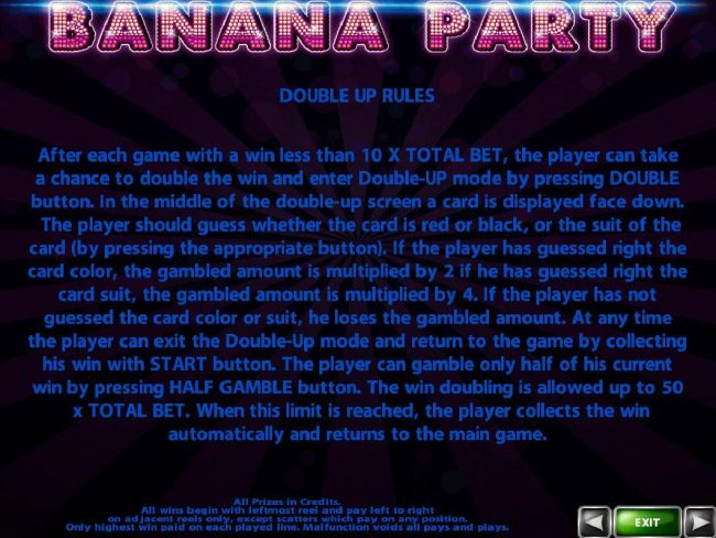 Orientxpress featuring the Video Slots Banana Party with a maximum payout of $125,000
