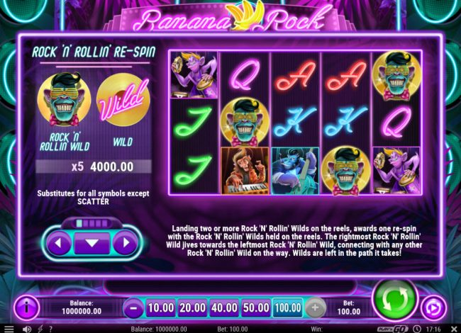 Zet Casino featuring the Video Slots Banana Rock with a maximum payout of $40,000