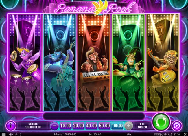 Play 24 Bet featuring the Video Slots Banana Rock with a maximum payout of $40,000
