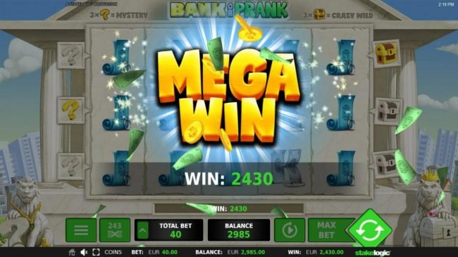 Bank or Prank :: Stacked Jacks triggers a 2430 coin Mega Win!