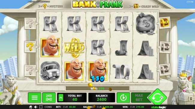 Bank or Prank :: Multiple winning combinations triggers a 270.00 big win!