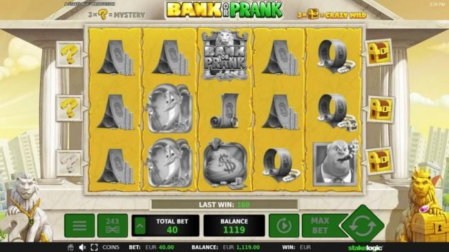 Bank or Prank :: Collect 3 crazy wild symbols to activate the Crazy Wild Game