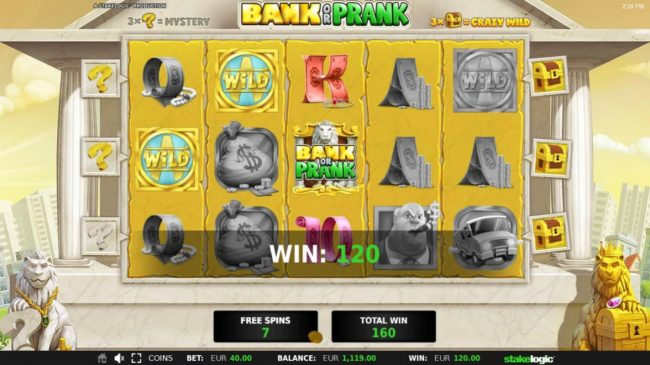 Bank or Prank :: Free Spins Game Board