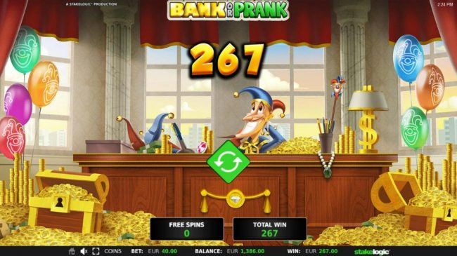 Bank or Prank :: Total Free Spins Payout 267.00