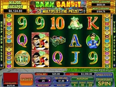 the free games feature pays out a table jackpot of $3559