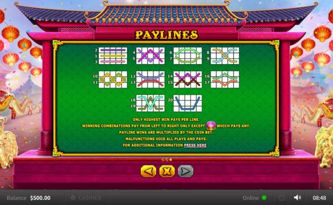 Bao Zhu Xuan Tian :: Paylines 1-20