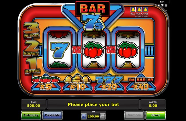 Casumo featuring the Video Slots Bar 7s with a maximum payout of $50,000