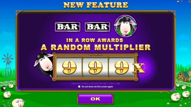 Fortune Junction featuring the Video Slots Bar Bar Black Sheep 5 Reels with a maximum payout of $95,000