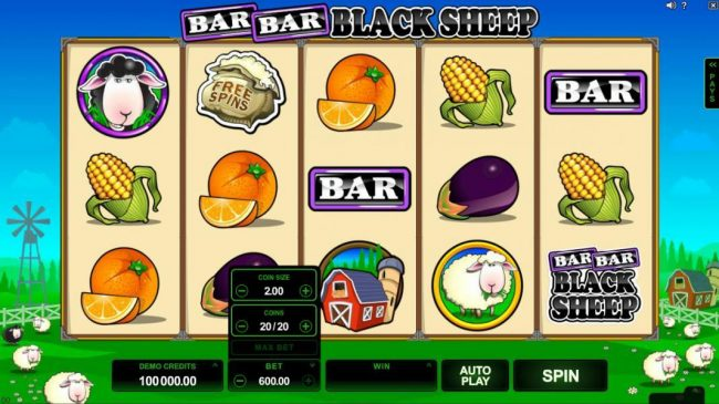 Bar Bar Black Sheep 5 Reels :: The bet level can be easliy adjusted by clicking on BET and using the plus or minus buttons to select an appropriate bet level that suits your playing style.