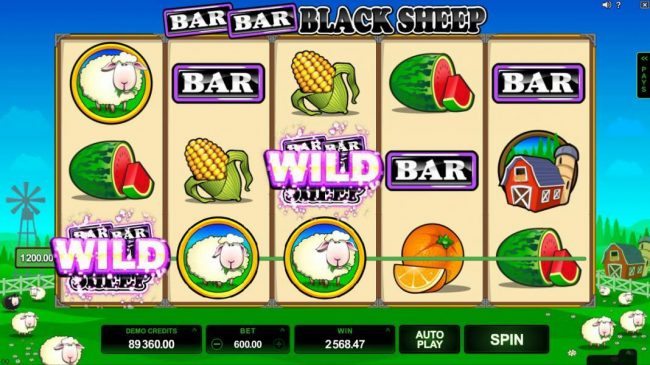 Bar Bar Black Sheep 5 Reels :: Multiple winning paylines triggers a big win!