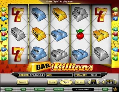Celtic featuring the Video Slots Bar Billions with a maximum payout of $10,000