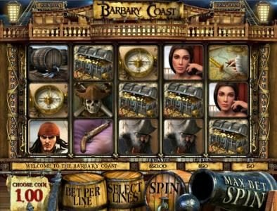BetOnline featuring the Video Slots Barbary Coast with a maximum payout of $7,500