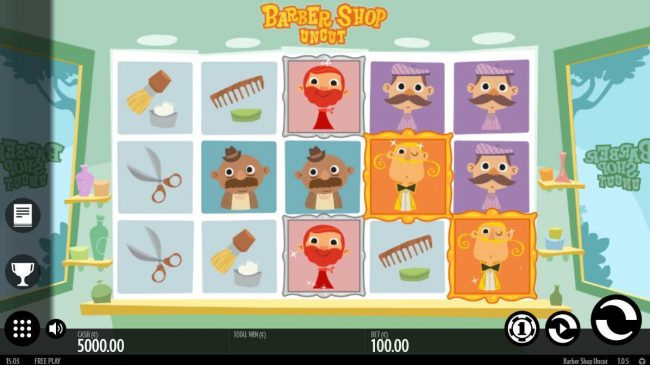 Argo featuring the Video Slots Barber Shop Uncut with a maximum payout of $1,500