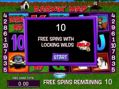Yako Casino featuring the Video Slots Barkin Mad with a maximum payout of $250,000