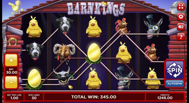 Winner Million featuring the Video Slots Barn Kings 2 with a maximum payout of 0