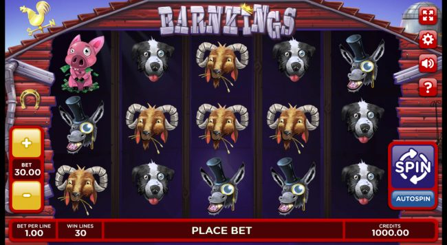 Play slots at Venetian: Venetian featuring the Video Slots Barn Kings 2 with a maximum payout of 0