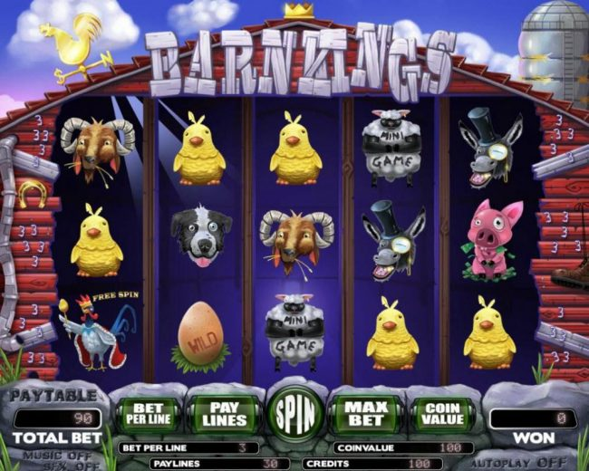 Play slots at Elegant VIP: Elegant VIP featuring the Video Slots Barn Kings with a maximum payout of $12,000