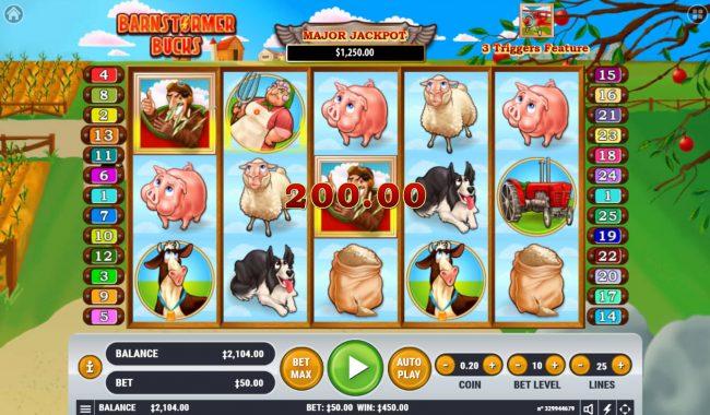Barnstormer Bucks :: Multiple winning paylines