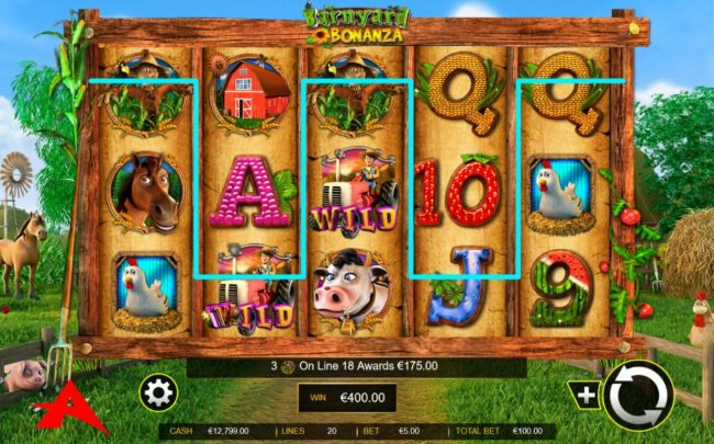 Boaboa featuring the Video Slots Barnyard Bonanza with a maximum payout of $100,000