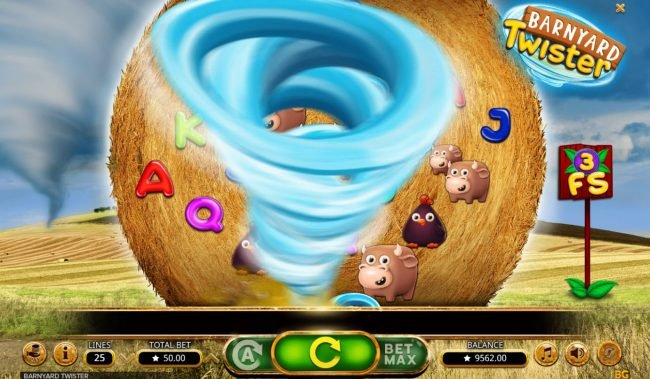 Zet Casino featuring the Video Slots Barnyard Twister with a maximum payout of $16,000