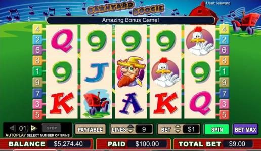 Casino Red Kings featuring the video-Slots Barnyard Boogie with a maximum payout of 4,000x