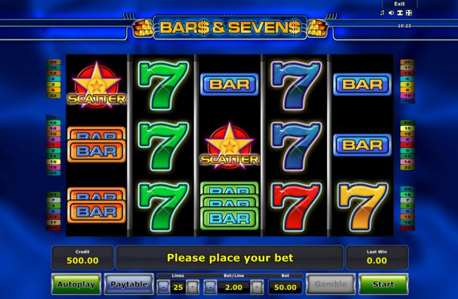 AC Casino featuring the Video Slots Bars and Sevens with a maximum payout of $25,000