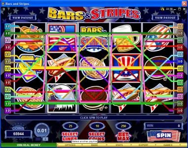 Virgin featuring the Video Slots Bars & Stripes with a maximum payout of $500,000